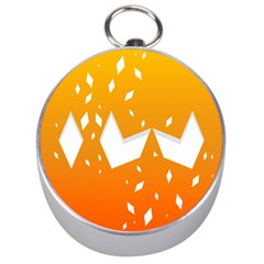 Cute Orange Copy Silver Compasses