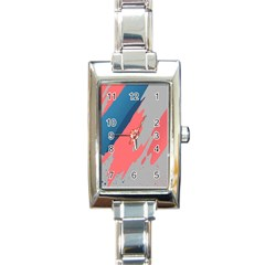 Colorful Rectangle Italian Charm Watch