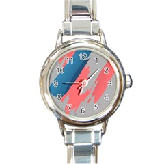Colorful Round Italian Charm Watch