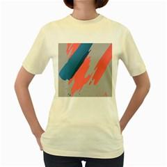 Colorful Women s Yellow T-Shirt