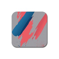 Colorful Rubber Square Coaster (4 pack)