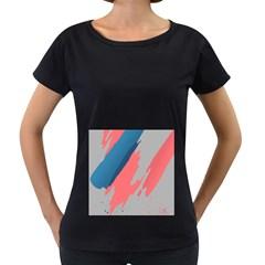 Colorful Women s Loose-Fit T-Shirt (Black)