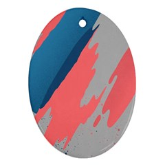 Colorful Oval Ornament (Two Sides)
