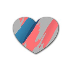 Colorful Rubber Coaster (Heart)