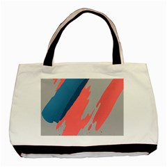 Colorful Basic Tote Bag (Two Sides)