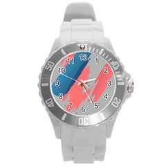 Colorful Round Plastic Sport Watch (L)