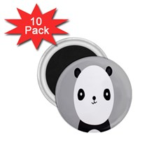Cute Panda Animals 1.75  Magnets (10 pack)