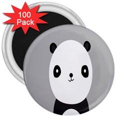 Cute Panda Animals 3  Magnets (100 pack)