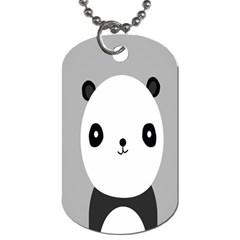 Cute Panda Animals Dog Tag (One Side)