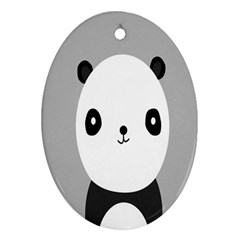 Cute Panda Animals Oval Ornament (Two Sides)