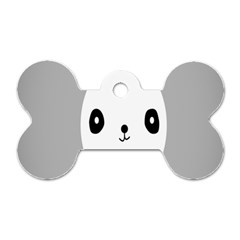 Cute Panda Animals Dog Tag Bone (One Side)