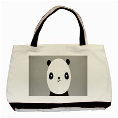 Cute Panda Animals Basic Tote Bag (Two Sides)