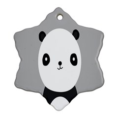 Cute Panda Animals Ornament (Snowflake)