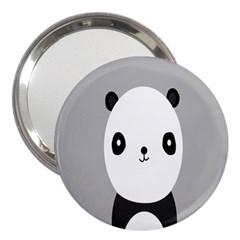 Cute Panda Animals 3  Handbag Mirrors