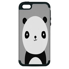 Cute Panda Animals Apple iPhone 5 Hardshell Case (PC+Silicone)