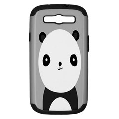 Cute Panda Animals Samsung Galaxy S III Hardshell Case (PC+Silicone)