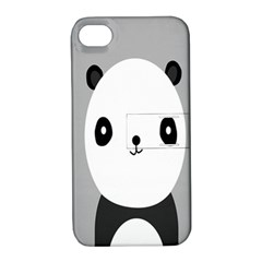 Cute Panda Animals Apple iPhone 4/4S Hardshell Case with Stand