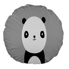Cute Panda Animals Large 18  Premium Flano Round Cushions