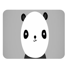 Cute Panda Animals Double Sided Flano Blanket (Large)