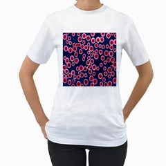 Cute Red Ball Women s T-Shirt (White) (Two Sided)