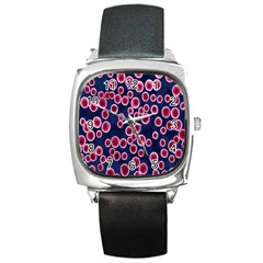 Cute Red Ball Square Metal Watch