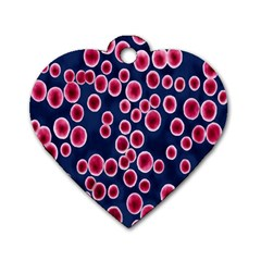 Cute Red Ball Dog Tag Heart (One Side)