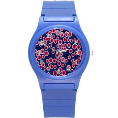 Cute Red Ball Round Plastic Sport Watch (S)