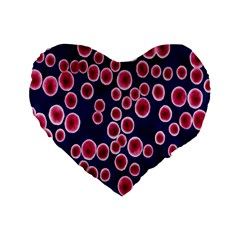 Cute Red Ball Standard 16  Premium Heart Shape Cushions