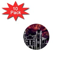 Fantasy Tropical Cityscape Aerial View 1  Mini Buttons (10 pack)
