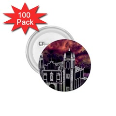 Fantasy Tropical Cityscape Aerial View 1.75  Buttons (100 pack)