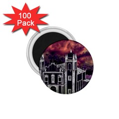 Fantasy Tropical Cityscape Aerial View 1.75  Magnets (100 pack)