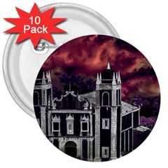 Fantasy Tropical Cityscape Aerial View 3  Buttons (10 pack)