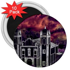 Fantasy Tropical Cityscape Aerial View 3  Magnets (10 pack)
