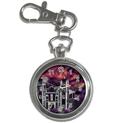 Fantasy Tropical Cityscape Aerial View Key Chain Watches