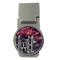 Fantasy Tropical Cityscape Aerial View Money Clips (Round)