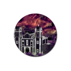 Fantasy Tropical Cityscape Aerial View Magnet 3  (Round)