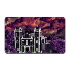Fantasy Tropical Cityscape Aerial View Magnet (Rectangular)