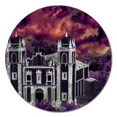 Fantasy Tropical Cityscape Aerial View Magnet 5  (Round)