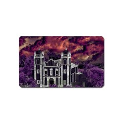 Fantasy Tropical Cityscape Aerial View Magnet (Name Card)