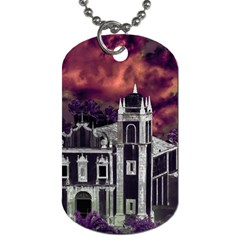 Fantasy Tropical Cityscape Aerial View Dog Tag (One Side)