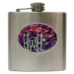 Fantasy Tropical Cityscape Aerial View Hip Flask (6 oz)
