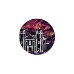 Fantasy Tropical Cityscape Aerial View Golf Ball Marker