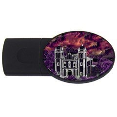 Fantasy Tropical Cityscape Aerial View USB Flash Drive Oval (1 GB)