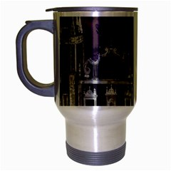 Fantasy Tropical Cityscape Aerial View Travel Mug (Silver Gray)