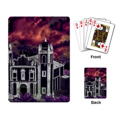 Fantasy Tropical Cityscape Aerial View Playing Card