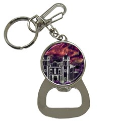 Fantasy Tropical Cityscape Aerial View Button Necklaces
