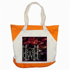 Fantasy Tropical Cityscape Aerial View Accent Tote Bag