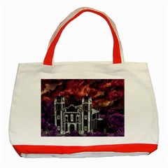 Fantasy Tropical Cityscape Aerial View Classic Tote Bag (Red)