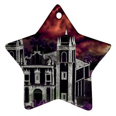 Fantasy Tropical Cityscape Aerial View Star Ornament (Two Sides)