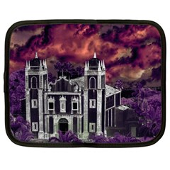 Fantasy Tropical Cityscape Aerial View Netbook Case (Large)